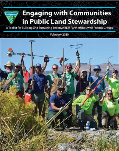 Cover of BLM Engaging with Communities in Public Land Stewardship guide